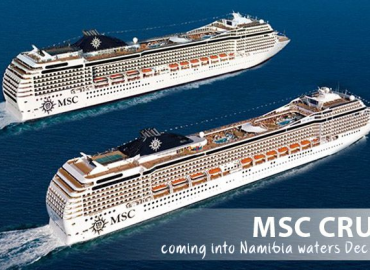 MSC Cruises coming into Namibian waters